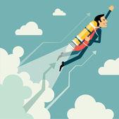 Kaufmann Wachstum und Start-up Konzept