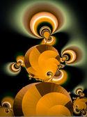 Foto di bella colorata astratta frattale