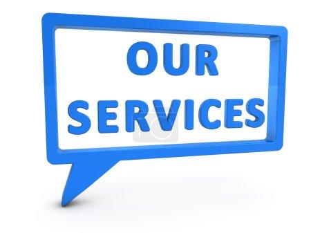Постер, плакат: Our Services, холст на подрамнике
