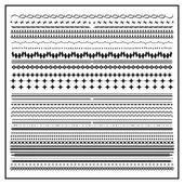 Divisori linee calligrafico ed elementi di design