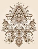 Hena paisley krajkou květina vektor