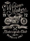 Ručně malované vintage motocykl grafiku