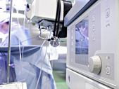 Medical device in the operating room. Anesthetic machine during