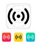 Radio waves icon Wireless technology Vector illustration