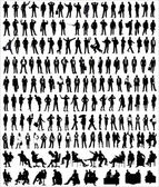 Vector Silhouettes Of Business