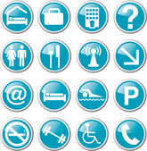 Hotel related icon set