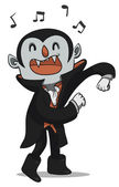 Vector illustration of a young vampire shaking it out One group only and full editable