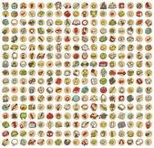 Kolekce 289 školy a vzdělávání doodled ikony
