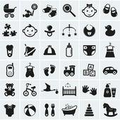 Baby-Symbole festgelegt. Vektor-illustration