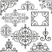 A set of 9 exquisitive and very clean ornamental designs