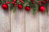 Confine di Natale su fondo in legnoBoże Narodzenie granica na drewniane tła