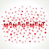 Management text with in alphabets stock vector