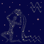 Sternzeichen Wassermann auf den Sternenhimmel zu unterzeichnen
