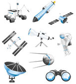 Several space and astronomy related vector icons