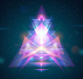 Abstract light triangle background