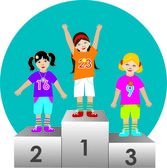 Children champions illustration vector