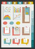 Rozložení webové stránky úřadu práce. barevné grafické šablony. Složka, nálepka, graf, karta, data, sada bubliny. vektorový pozadí