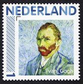 Poststamp zeigt eine Porträt gemalt von Vincent van gogh