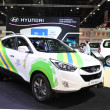 Постер, плакат: NONTHABURI March 25: Hyundai Tucson car on display at The 35th