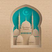 3D Cardboard Mosque