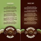 Offee menu (two versions) vector