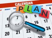 Kalendář s lupou