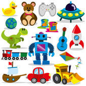 A set of differents cute vector toys