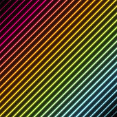 Contemporary abstract background with stripes in rainbow colors with a neon glowing effect
