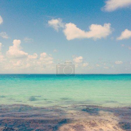 Постер, плакат: Бирюзовые воды Карибского моря, холст на подрамнике
