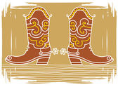 Vector color illustration of western shoes