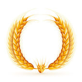 Vector realistic wheat wreath design