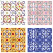 Vector illustration of original sicilian ceramics pattern