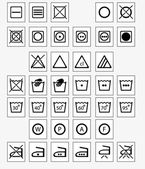 Vector set of 37 washing and laundry icons
