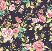 Classic wallpaper vintage flower pattern background