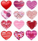 Vektorové kolekce stylizované srdce