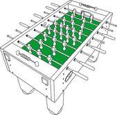 Biliardino e calcio isolato illustrazione sul vettore bianco