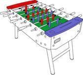 Stolní fotbal a fotbal vektor