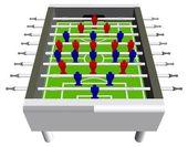 Stolní fotbal fotbalové hry perspektivy vektor
