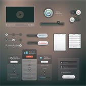Vector set of various elements used for User Interface projects
