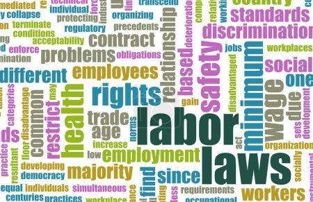 Постер, плакат: Labor Laws, холст на подрамнике