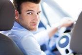člověk řídit auto