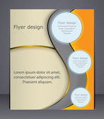 Layout business brochure Layout flyer template or a magazine cover website template