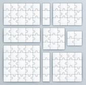 Skládačka šablony. sada puzzle 15, 3, 12, 10, 9, 4, 16, 25 kusů