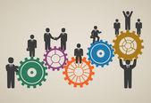 Pracovní tým pracující, podnikatelé v pohybu, motivace f