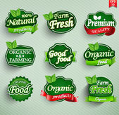 Farm fresh food label badge or seal vector