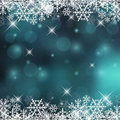 Decorative Vector Holiday Background with Snowflakes and Sparks