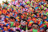 Dolls at Mexican craft market