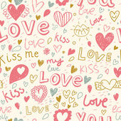 Romantic seamless pattern Love concept background Seamless pattern can be used for wallpaper pattern fills web page backgroundsurface textures