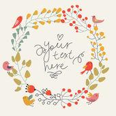 Uložte data květinovým kartu. ročník svatební oznámení. ptáků a květin - letní světlé pozadí