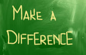 Machen Sie einen Unterschied-Konzept